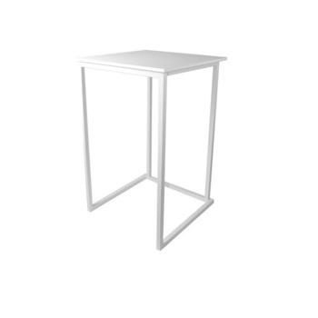 TABLE MANGE DEBOUT KUBO BLANC