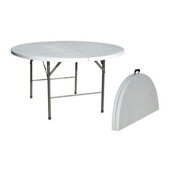 TABLE RONDE 150CM PVC PLIANTE