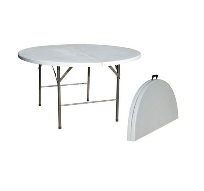 TABLE RONDE 150CM PVC PLIANTE