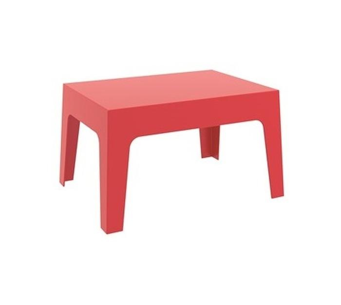 TABLE BASSE RÉSINE ROUGE
