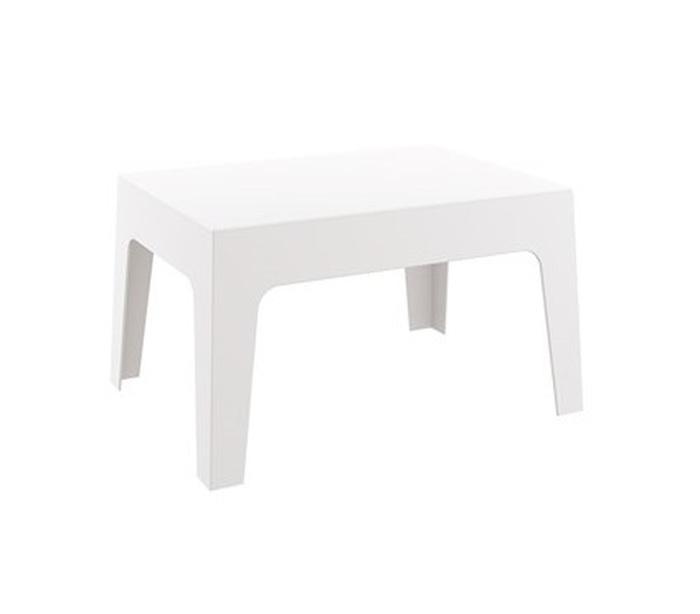 TABLE BASSE RÉSINE BLANCHE