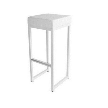 TABOURET KUBO BLANC / ASSISE BLANCHE