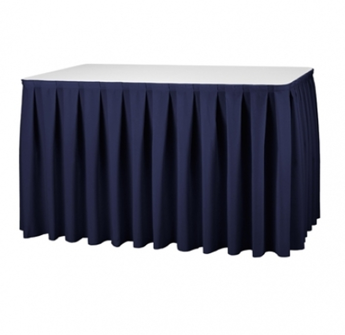 JUPE DE TABLE 4 M BLEUE